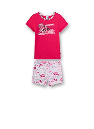 Sanetta Mädchen Pyjama kurz Zweiteiliger Schlafanzug, Rosa (rosa 3845), (Herstellergröße:152)