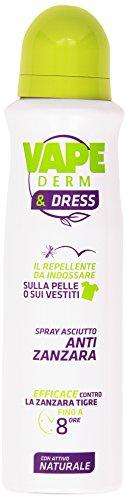 Vape - Spray Asciutto Anti Zanzara, Repellente da Indossare - 150 ml