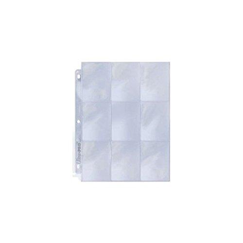 25 (Twenty Five) Single Ultra Pro 9-Pocket Coupon Pages - Nine Pockets Page (9 Top Load / Vertical Slots)