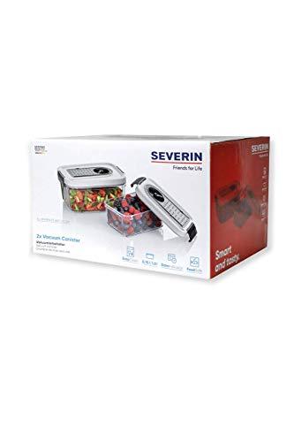 SEVERIN ZB 3618 Vakuumierbehälter Set (Für Vakuumierer, 2 Set 0,75 l und 1,5 l)