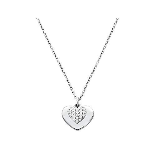 Michael Kors Collar de plata esterlina con corazón pavé MKC1120AN040
