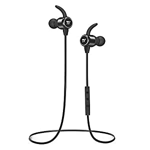 TaoTronics Écouteurs Bluetooth 4.2 sans Fil CVC6.0 Casque Bluetooth Intra-Auriculaire avec Micro MEMS, Oreillette Sport Etanche Réduction du Bruit pour Course/Gym/Jogging