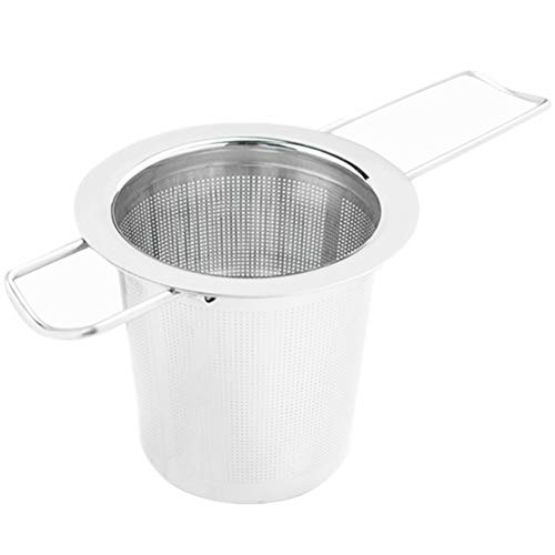 Extra Fine Mesh Tea Infuser - Fits Standard Cups Mugs Teapots - Perfect Stainless Steel Filter for Brewing Steeping Loose Tea