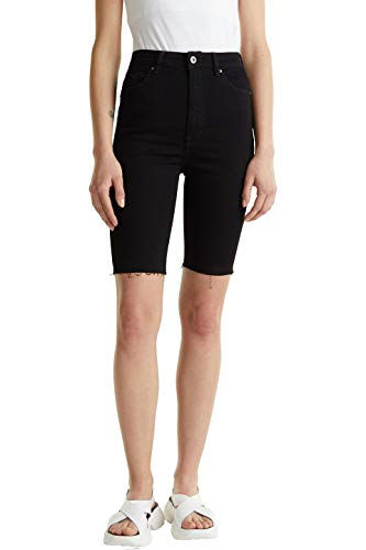 edc by ESPRIT Damen 040CC1C304 Jeans-Shorts, 910/BLACK Rinse, 30