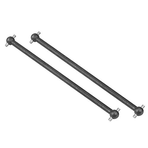Dilwe RC Auto-Antriebswellen, 2 Stück 101mm Metall-Hundeknochen-Antriebswellen für FS 53633/51805/51806 1/10 RC-Zubehörteile( Schwarz)