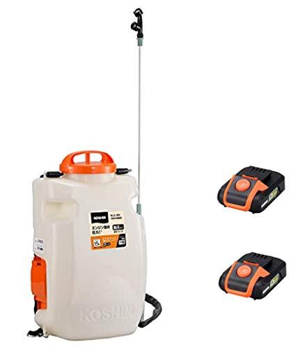 【セット品】工進(KOSHIN) 18V 充電式 噴霧器 高圧 SLS-15H バッテリー・充電器付 + 予備バッテリー