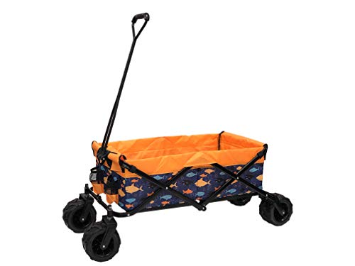 WagonsRus Limited Edition AllTerrain Collapsible Folding Utility Wagon Beach Outdoor Camping Sports Fish Pattern