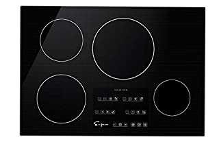 """Empava 30"""" Electric Stove Induction Cooktop with 4 Power Boost Burners Smooth Surface Vitro Ceramic Glass in Black, 30 Inch (B0811XNB5Z) 