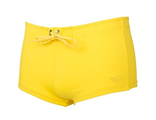 Emporio Armani Costume de Boxeur Homme Short Sea ou Piscine Stretch Beachwear Article 211653 5P401 Boxer Maillot de Bain, 04260 Giallo/Yellow, Taglia 48