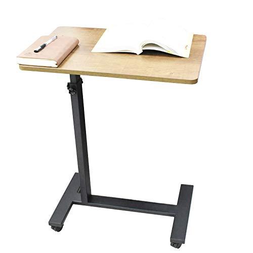 Mesita de noche ajustable con ruedas para espacios pequeños, escritorio de oficina en casa, portátil, mesa auxiliar de TV moderna para sala de estar, escritorio portátil para estudiar (Espresso)