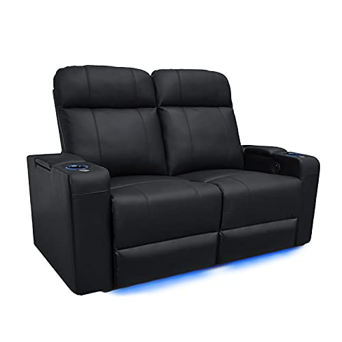 Valencia Piacenza Home Theater Seating | Premium Top Grain Nappa 9000 Leather, Power Recliner, LED...
