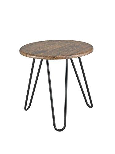 Table Basse Ronde Aspect Brockton Rond 45 x 45 x 45 cm Vintage 1