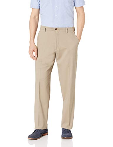 Dockers Men's Relaxed Fit Easy Khaki Pants D4, Timber Wolf (Stretch), 40W x 34L