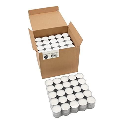 Stonebriar Long Burning Tea Light Candles, 6 to 7 Hour Extended Burn Time, White, Unscented, Bulk 200-Pack (SM-TL200)