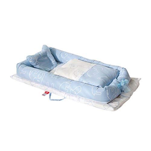 HUYP Cuddle Nest Baby Pod Matelas De Voyage Couette Anti-Pression Berceau Pliant Nouveau-Né Bionic Lit Portable 0-2 Ans (Couleur : Blue F)