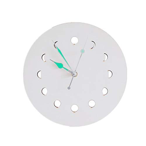Leyeet Reloj de pared de fase lunar luminoso reloj colgante de pared para decoración de la sala de estar en casa oficina