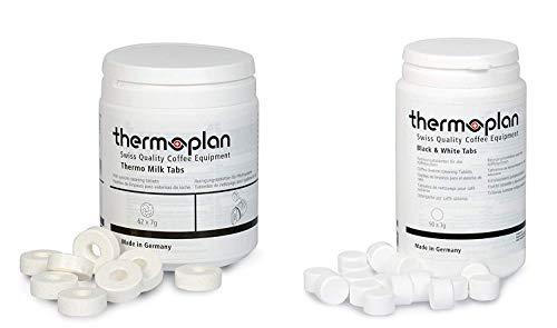 Thermoplan | Black & White 3 One Tab-Set | Bundle für 3 Monate | 3 Dosen Thermo Milk Tabs + 2 Dosen Reinigungstabletten