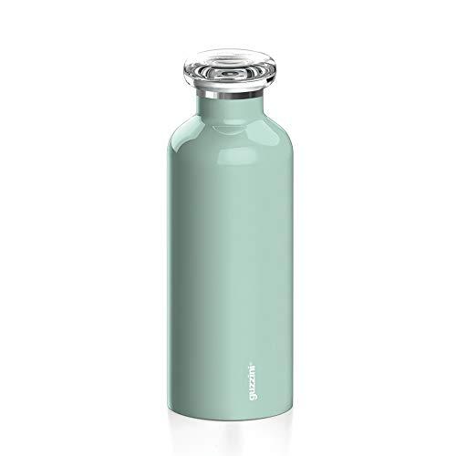 Guzzini Energy On The Go Bottiglia Termica da Viaggio, Poliestere Copolimero, Polipropilene, Stainless Steel, Verde, 7.3 cm