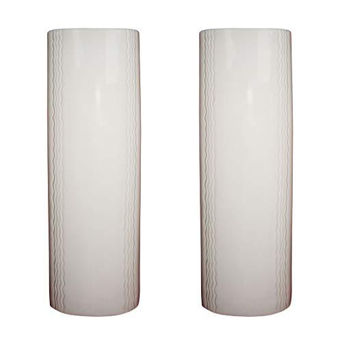 Luftbefeuchter 2-teiliges Set aus Keramik XXL 750ml neutral schlicht lang weiß zur Befestigung am Heizkörper Heizung Wasserverdunster Diffuser a1667
