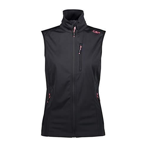 CMP Damen Softshell Waterproof Vest Weste, Anthracite-Gloss, D46