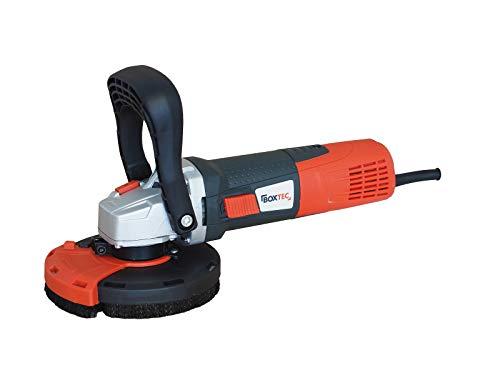 Amoladora de hormigón (125 mm, fresadora para hormigón, 1400 W, con regulación de velocidad y campana de extracción)