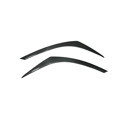 JXSMQC 2 Stück Kohlefaser Scheinwerferlampenabdeckung Augenbrauenverkleidung.Für Toyota.Für CHR 2017 2018