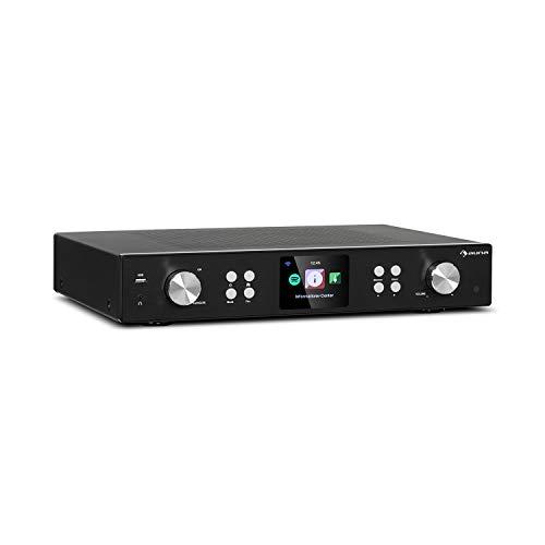 AUNA iTuner 320 ME - Sintonizzatore Hi-Fi, Bluetooth, Spotify Connect, Controllo App, Wi-Fi, SmartRadio: Web Radio DAB+ FM, DLNA & UPnP, USB, Lettore di Rete, Nero