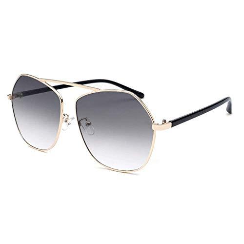 WMYATING Gafas de sol, ojos, a prueba de luz y a prueba de tormentas de arena, gafas de sol Poligonal Frontera Personalidad Moda Gafas de sol Gris Gradiente Lente 400 Protección Unisex