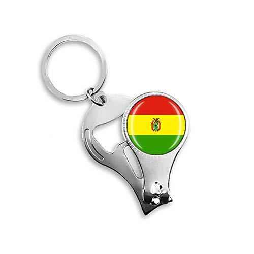 Bolivien Nationalflagge Nagelknipser Schlüsselanhänger Rucksack Anhänger Schlüsselanhänger Geschenk Reise Souvenir Multifunktionskombination