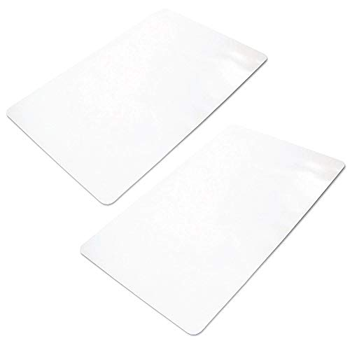 """Ilyapa Office Chair Mat for Hard Floors 2 Pack 36"""" x 48"""" Heavy Duty Clear, PVC Chair Mat for Hardwood and Tile Floors, Protective Floor Mat for Home or Office"""