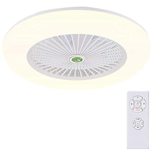 Ceiling Fan Light JY- Luz de Ventilador de Techo, lámpara LED Regulable con Cuchillas Invisibles retráctiles y Control Remoto, Motor silencioso, para niños Salón Dormitorio Restaurante