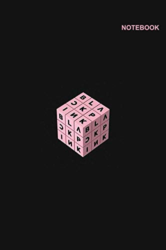 Blackpink daily notebook: Lined Pages, 110+ Pages, 6 x 9 inches, Blackpink Rubik Design Cover.