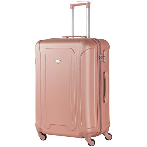 Flight Knight Suitcases Maximum for Delta, Virgin Atlantic, Lightweight 4 Wheel ABS Hard Case Suitcases Carry On & Hold Luggage Single and Set Options Approved for 48 Airlines Inc easyJet and RyanAir