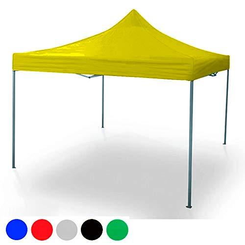 ilios innova Toldo Plegable 3×3 de Acero Reforzado En Seis Colores Diferentes (Amarillo)