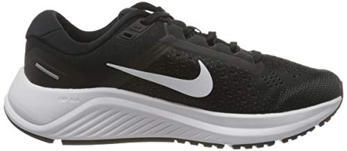 Nike Women's Stroke Running Shoe, Black White Anthracite, US-0 / Asia Size s