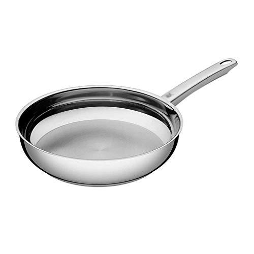 Silberne Pfanne - Antihaft-Antihaft-Bratpfanne aus Metall, Einhand-Sicherheitspfanne Küchengeschirr