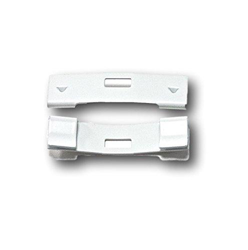 gmagroup 15 Pack Vertical Blind Vane Saver ~ White Curved Repair Clips Fix Broken Vertical Blinds