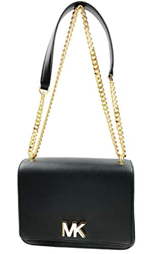 Snap Closure Double Compartment Michael Kors Women's Mott Large Leather Chain Shoulder bag Interior Features Double Compartment,1 Zip Pocket, and 1 Slip Pocket When used as single strap, it has approximately 23 inches drop and 11 inches drop when use...