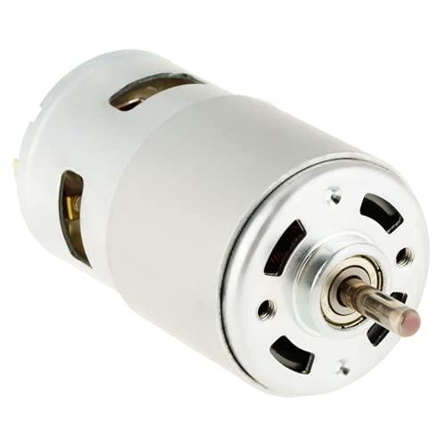 12000 RPM, motor sólido de alta velocidad de 12 V CC resistente al desgaste, 60 W, buen brillo, motor cepillado en miniatura 775, industrial