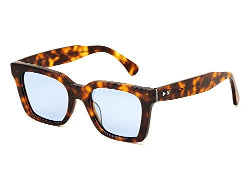 X-LAB Gafas de sol modelo Panarea, tortuga, oscuro/azul, unisex, lentes polarizadas