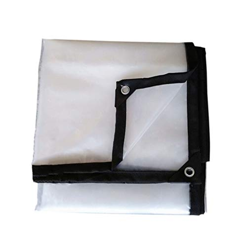 KUYUC Lona Transparente Impermeable, Polietileno Lona de Protección Reforzado con Ojales para Prueba de Lluvia Toldos de Plantas, 120g/m² (Color : Clear, Size : 2x4m/7x13ft)