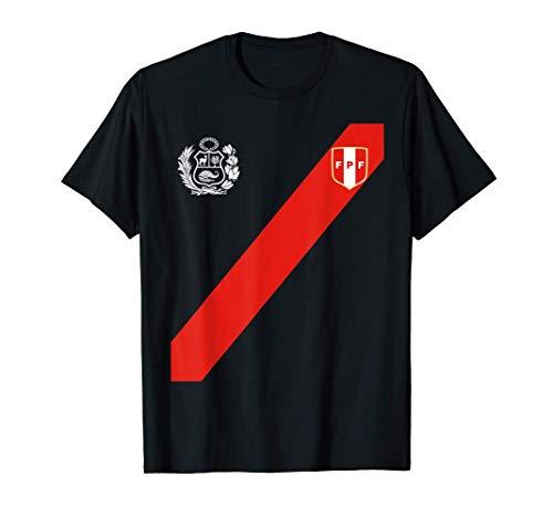 Polo Peruano Escudo Franja Roja Fútbol Soccer Logo Perú Camiseta