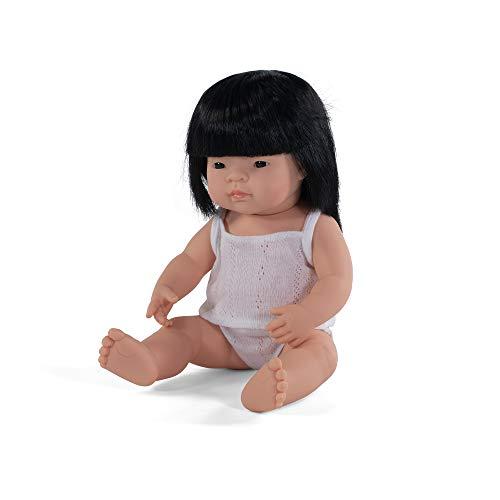 Miniland - Muñeco bebé asiático con ropa interior, 38 cm (31156)
