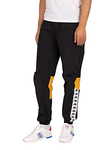 Kappa de los Hombres 222 Pantalón de chándal Banda Drako, Negro, XL