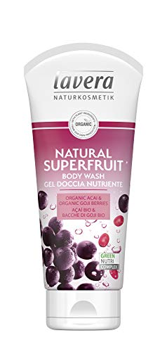 lavera Natural Superfruit Gel douche Nutriente ∙ vegan ∙ 100% natuurlijke cosmetica 800 ml (pak 4 x 200 ml)