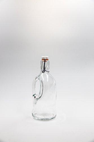 nr 1 pezzo art. Bottiglia Siphon Birra 500 ml vetro bianco tappo n°34