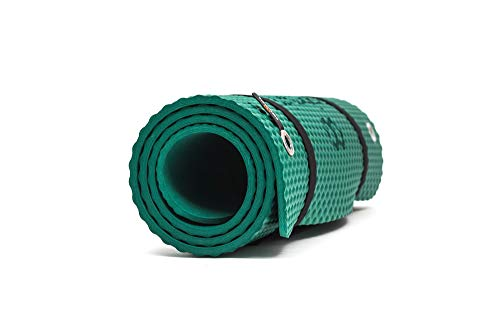 Bootymats - Colchoneta Fitness Multifunción para Todo Tipo de Entrenamiento: Fitness, Pilates, Abdominales, Estiramientos. Medidas: 160 x 60 cm. Grosor: 9 mm. Verde
