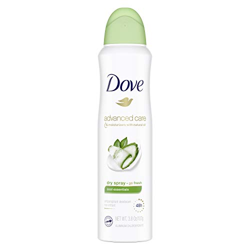 Dove Dry Spray Antiperspirant, Cool Essentials, 3.8 Ounce