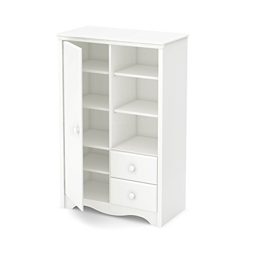 South Shore Heavenly Armoire with Drawers, Pure White