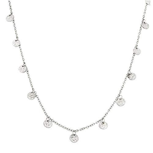 PURELEI ® Malihini Halskette (Gold, Rosegold & Silber) Mit Anhänger (40 cm Länge) … (Silber)